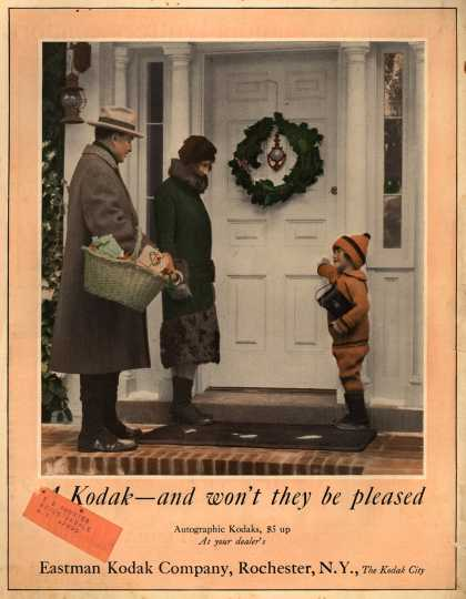 Kodak – A Kodak – and won't they be pleased
