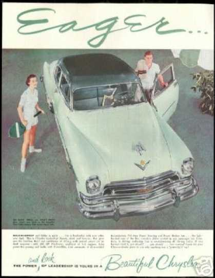 Chrysler New Yorker Car Vintage Photo (1954)