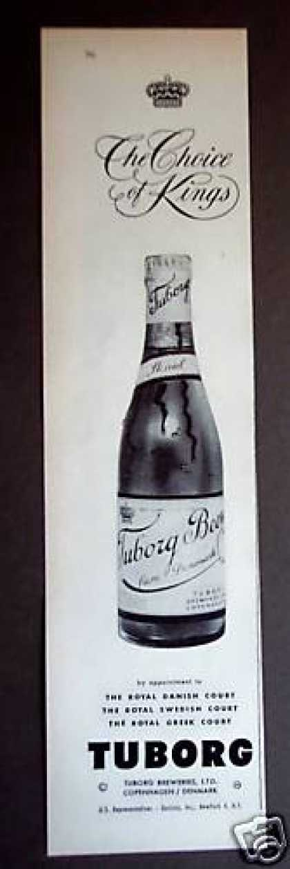 Tuborg Beer From Denmark Choice of Kings (1956)