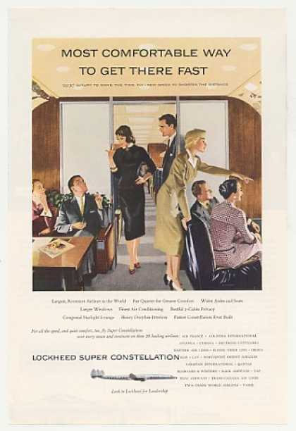 Lockheed Super Constellation Plane Comfortable (1955)