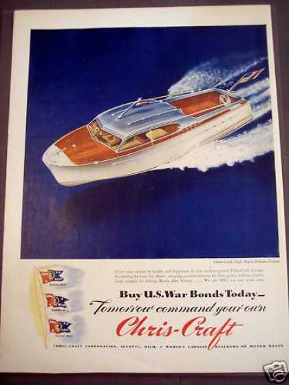 Chris-craft 26-ft Super Deluxe Cruiser Boat (1944)