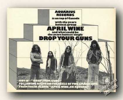 April Wine Photo Drop Your Guns Music (1972)