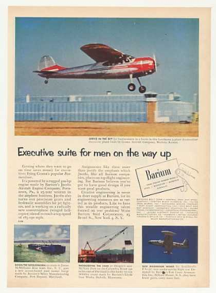 Cessna Businessliner Airplane Barium Photo (1953)