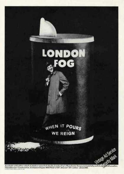 """When It Pours We Reign"" Clever London Fog (1965)"
