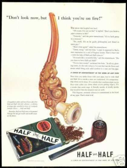 Amber Meerschaum Pipe Half and Half Tobacco (1941)