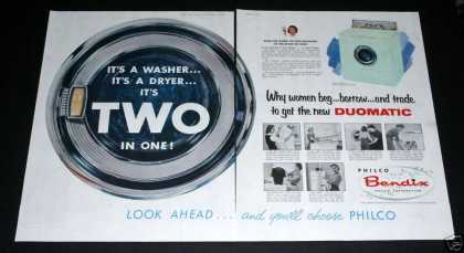 Philco Bendix, Duomatic Washer (1957)