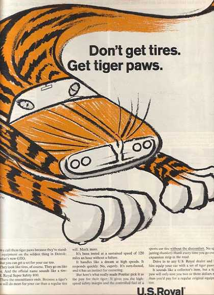 U.S. Royal's Tiger Paws Tires (1964)