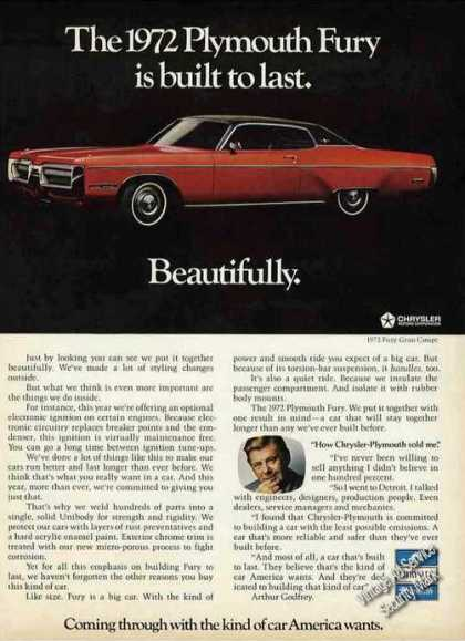 Plymouth Fury Is Built To Last. Beautifully (1972)