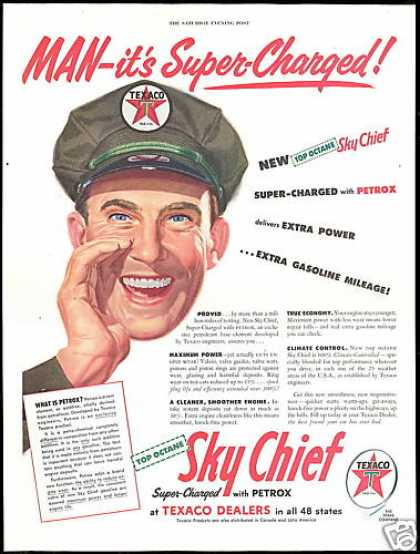 Texaco Gas Station Attendant Sky Chief (1954)