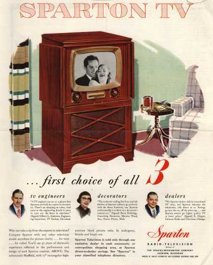 Sparton Radio-Television's Television – Sparton TV... the first choice of all 3 (1951)