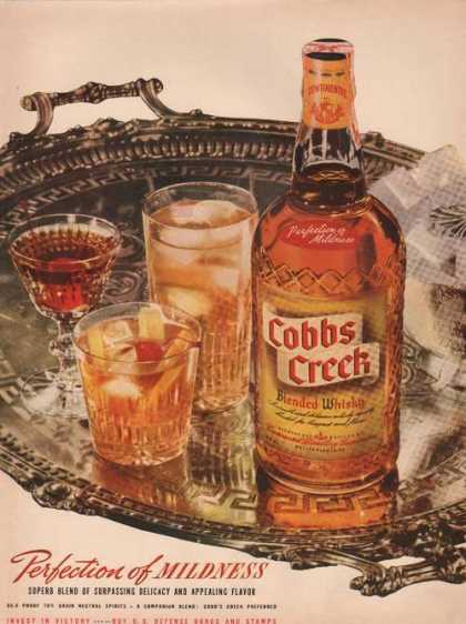 Cobbs Creek Blended Whisky Mildness (1942)