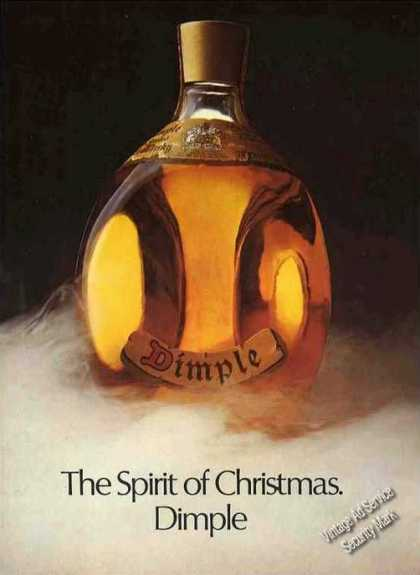"Dimple Scotch ""The Spirit of Christmas"" Nice Uk (1974)"