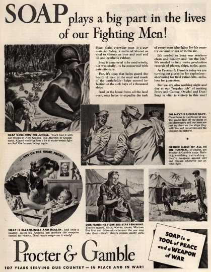 Procter & Gamble's Soaps – Soap plays a big part in the lives of our Fighting Men (1944)