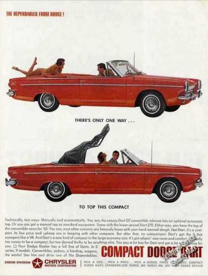 Red Dodge Dart Convertible Nice (1963)