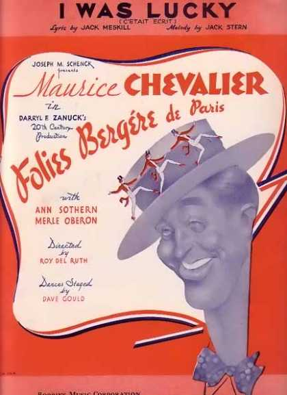 I Was Lucky – Maurice Chevalier Movie Sheet Music – Sold (1935)