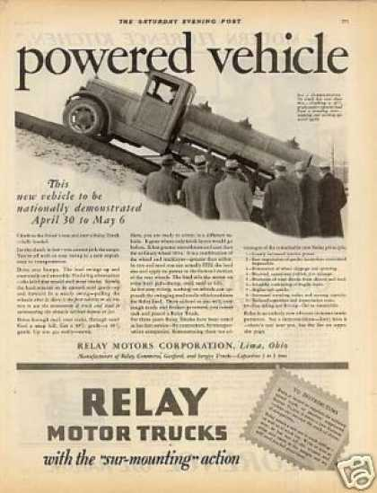 Relay Motor Trucks Ad 2 Page (1928)