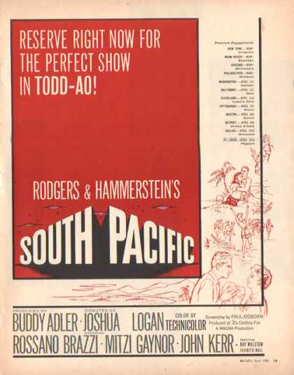 South Pacific Movie (1958)
