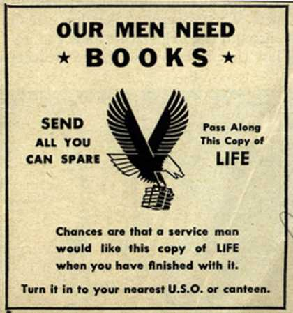 NA's Books and Magazines – Our Men Need Books (1943)
