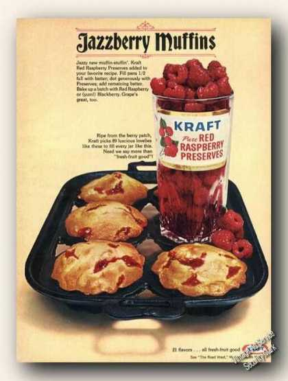 Kraft Red Raspberry Preserves Jazzberry Muffins (1967)
