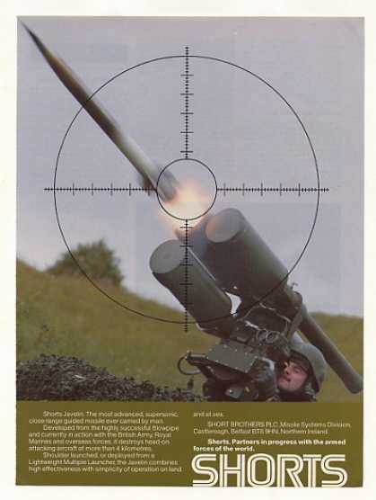 Shorts Javelin Guided Missile Firing Photo (1986)