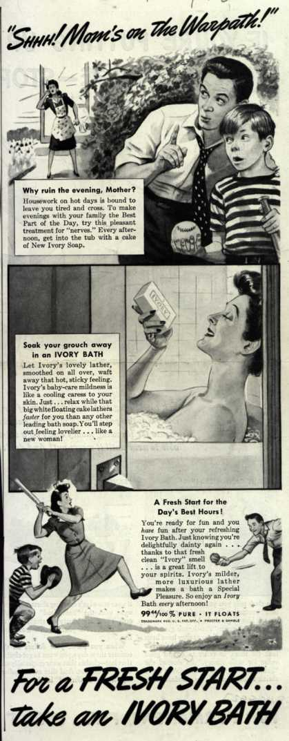 "Procter & Gamble Co.'s Ivory Soap – ""SHHH! Mom's on the Warpath!"" (1942)"