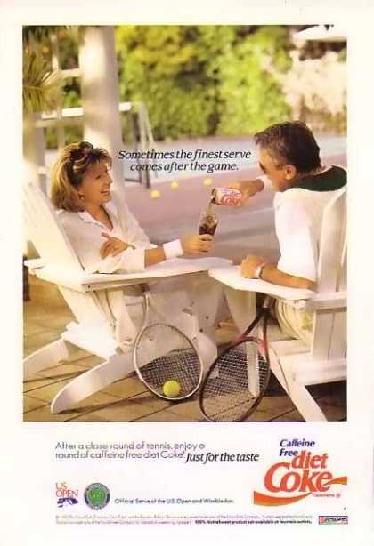 Coke Caffeine Free Diet Coke Tennis (1992)