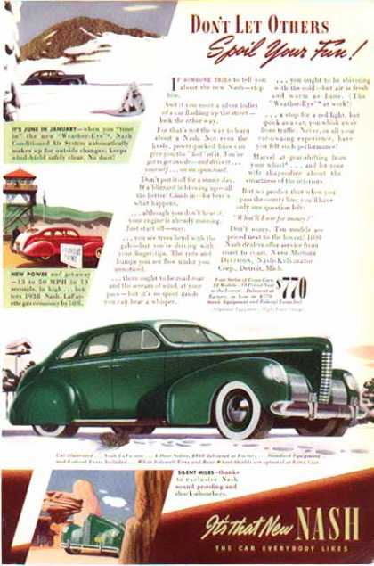 Nash Car -LaFayette 4 Door / Green – Sold (1939)