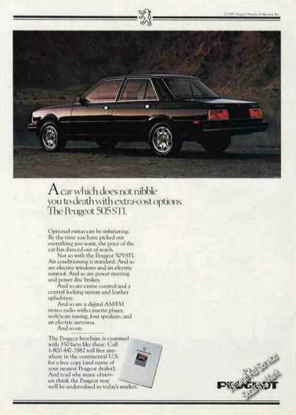 Peugeot 505 Sti Photo Extra-cost Options (1984)