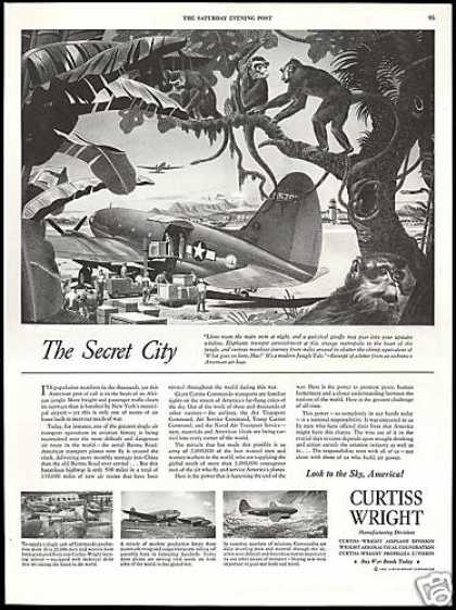 Curtiss Wright Commando Transport Airplanes (1944)