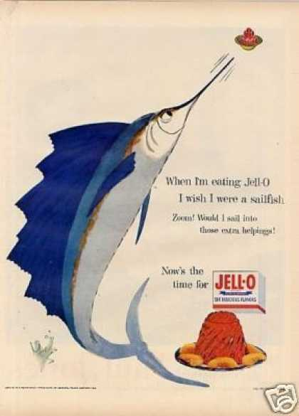 "Jello Ad ""I Wish I Were a Sailfish"" (1954)"