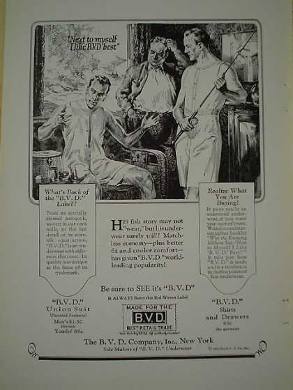BVD Underwear Fishing AND 70 Willy's Knight Automobile (1926)