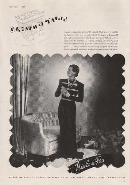 Evening Gown By Nicole De Paris (1939)