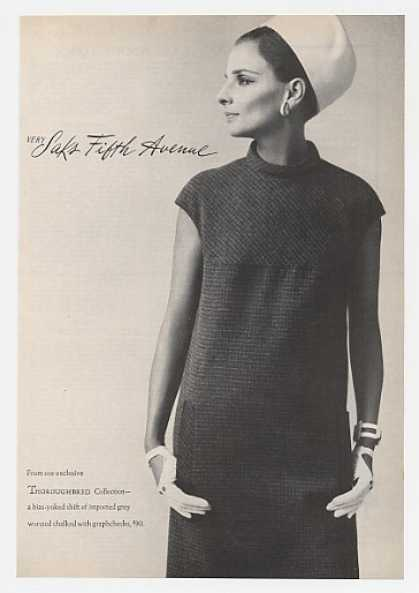 Thoroughbred Shift Dress Saks Fifth Avenue (1966)