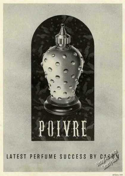 Poivre Latest Perfume Success By Caron (1956)