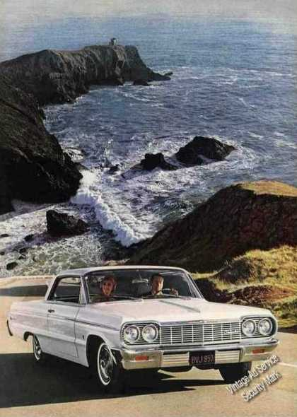 Chevrolet Impala Lighthouse In Background Car (1964)