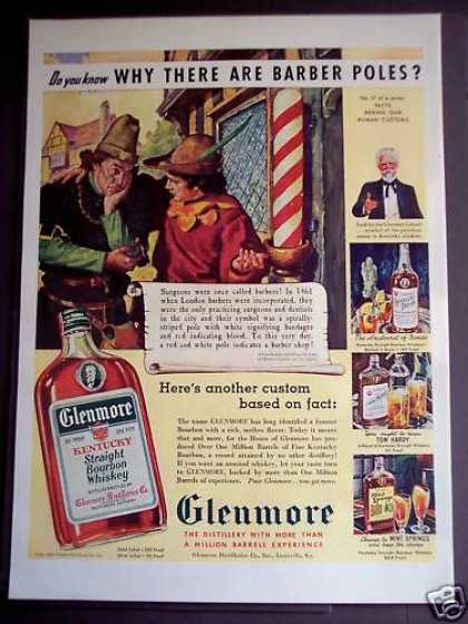 Glenmore Bourbon Whiskey Barber Shop (1939)