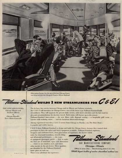 Pullman-Standard Car Manufacturing Company's Railroad Cars – Pullman-Standard Builds 2 New Streamliners for C&E I (1946)