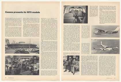 Cessna Aircraft Models 2-Page Photo Article (1970)