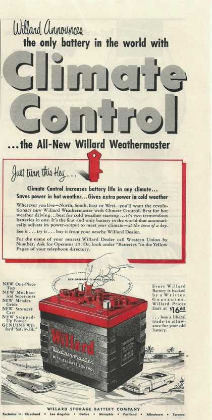 Climate Control Willard Car Battery Print (1953)