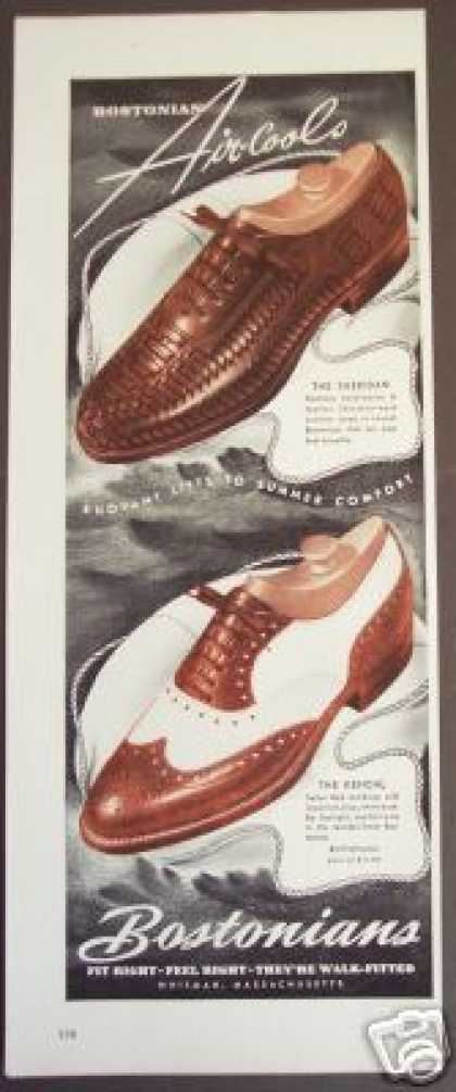 Bostonians Aircools Men's Shoes (1941)