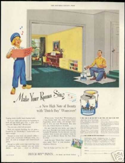Dutch Boy Wonsover House Paint (1950)