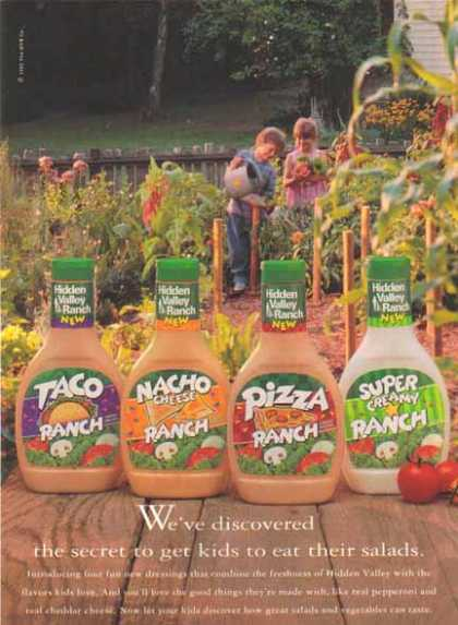 Hidden Valley Ranch – Taco, Pizza, Nacho and Super Creamy Ranch (1993)
