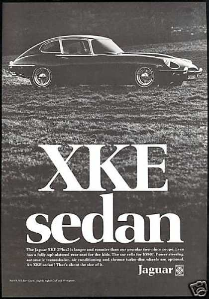 Jaguar XKE XK-E 2 Plus 2 Sedan Car Photo (1969)