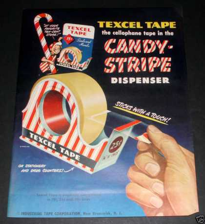"Texcel Tape ""Candy-str (1949)"