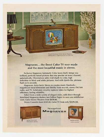 Magnavox French Provincial Stereo Theatre TV (1967)