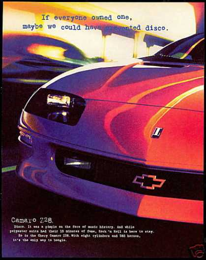Chevrolet Camaro Z28 Z-28 Car Prevent Disco (1997)