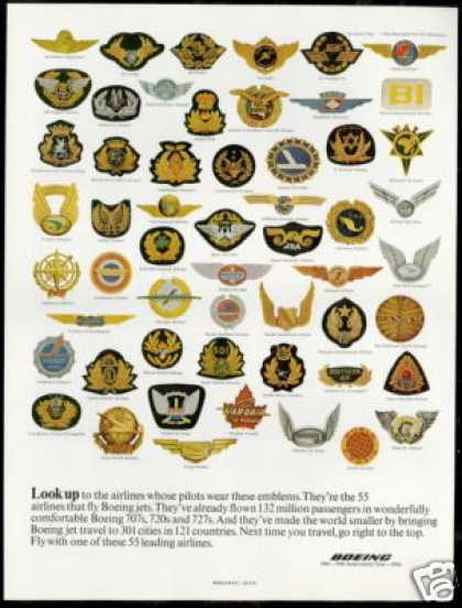 Boeing 50th Anniversary Airline Pilot Emblems (1966)
