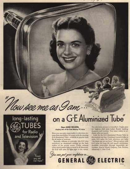"General Electric Company's GE Aluminized Tube – ""Now see me as I am... on a GE Aluminized Tube"" (1951)"