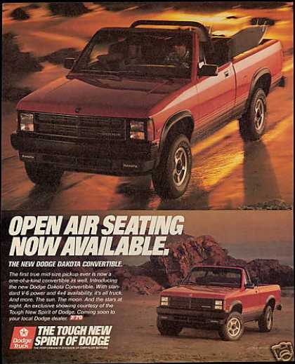 Dodge Dakota Truck Pickup Convertible (1989)