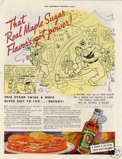 "Vermont Maid Syrup Ad ""That Real Maple... (1933)"